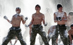 South Korean Soldiers Training Old School